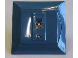 Alpina telefonna zásuvka 1xRJ11 modrá