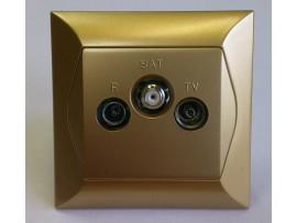 Alpina zásuvka TVR SAT koncová zlatá