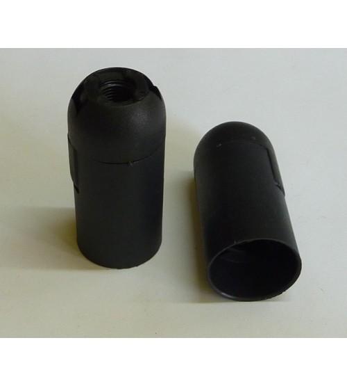 Objímka čierna E14 bez závitu