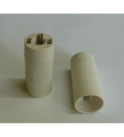 Objímka biela E14 bez závitu