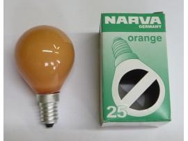 Žiarovka farebná E14 25W oranžová