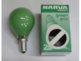 Žiarovka farebná E14 25W zelená