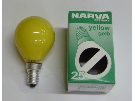 Žiarovka farebná E14 25W žltá