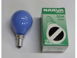 Žiarovka farebná E14 25W modrá