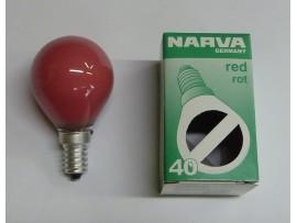 Žiarovka farebná E14 40W červená