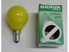Žiarovka farebná E14 40W žltá