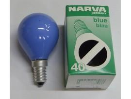 Žiarovka farebná E14 40W modrá