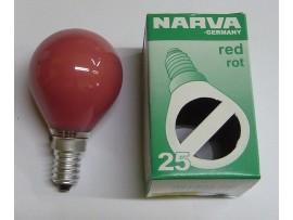 Žiarovka farebná E14 25W červená